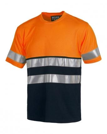 T-shirt bicolore alta visibilità Classe 1