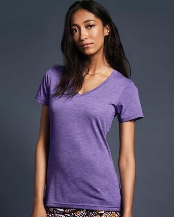 T-shirt donna leggera con scollatura a V
