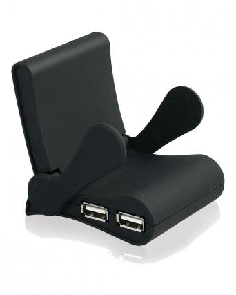 SUPPORTO PER CELLULARE CHAIR CON 4 PORTE USB