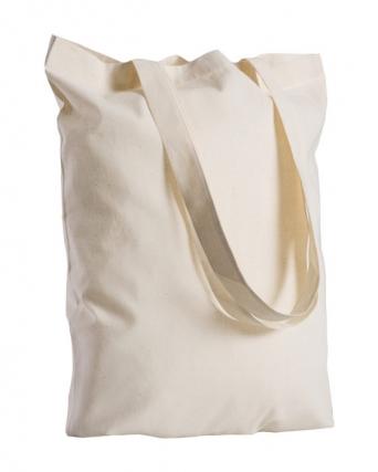 Borsa shopper 100% cotone manici lunghi