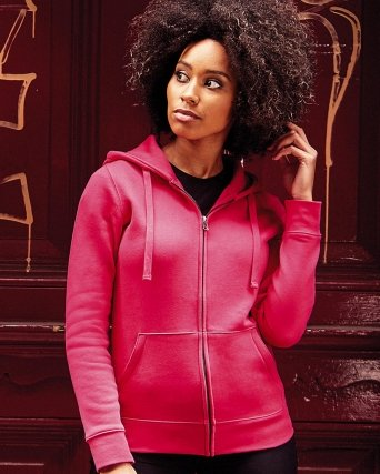 Felpa donna Authentic Full Zip e cappuccio