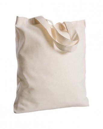 Borsa shopper in cotone organico manici corti da 130 gr