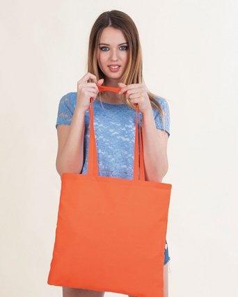 Borsa shopper in Cotone pesante Manici lunghi Colori reattivi