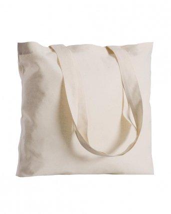 Shopper cotone quadrata manici lunghi da 135 gr